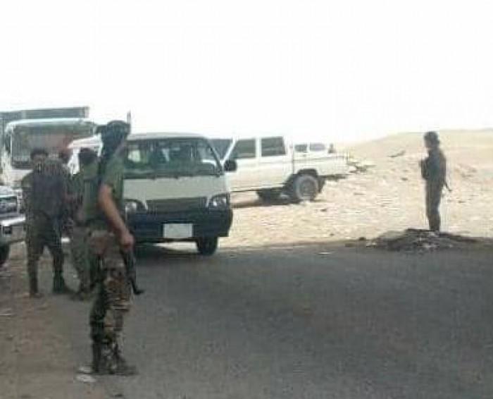 قوات الحزام الأمني بنقطة الحسيني تتصدى لعصابات خارجة عن القانون