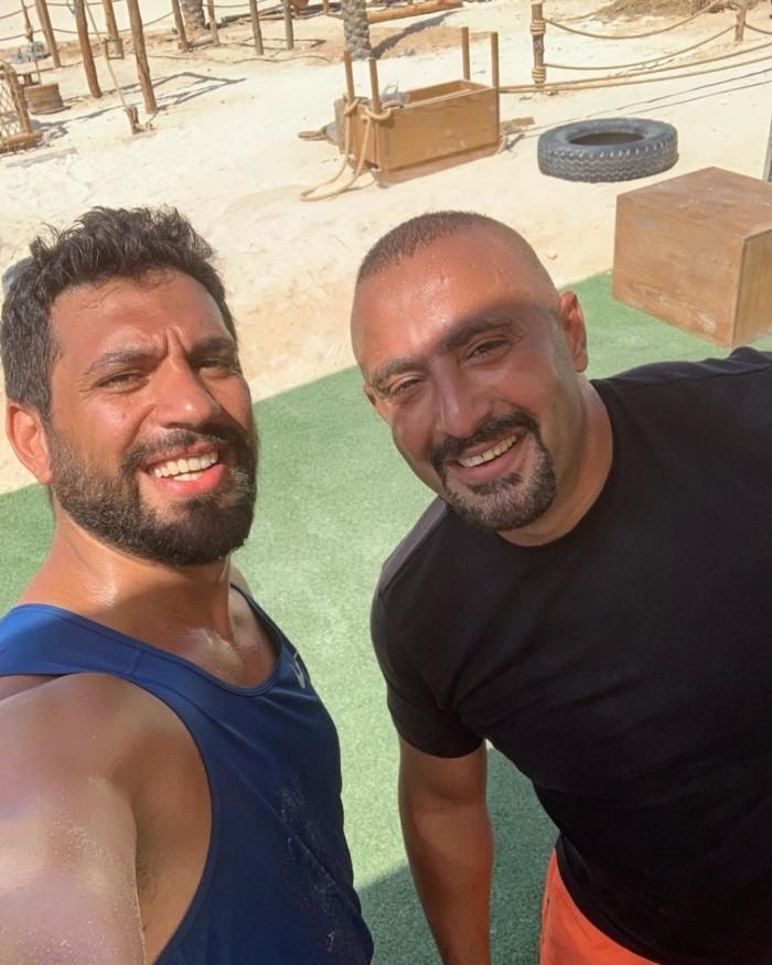"""""""الأخوة"""".. أحمد السقا بصحبة حسن الرداد في الجيم (صورة)"""