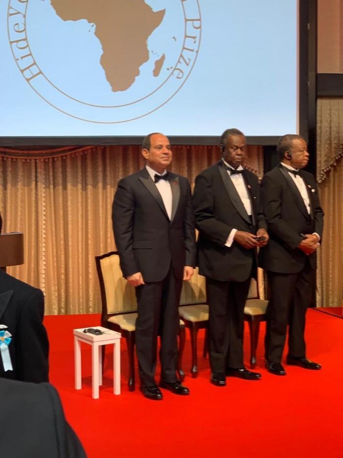 شاهد.. جانب من حفل توزيع جائزة هيديو نوغوتشي أفريقيا