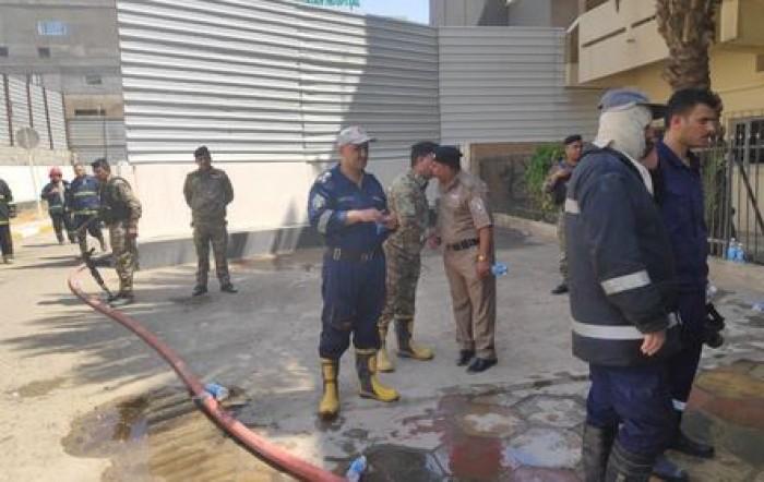 بعد حريقها.. وزير الخارجية العراقي يطمئن على موظفي السفارة الرومانية