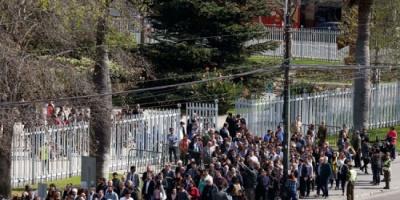 (صور).. إجلاء مواطنين في تشيلي خلال محاكاة لزالزال تسوماني
