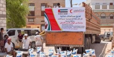 """""""هلال الإمارات"""" يلمع في سماء الإنسانية.. مساعدات تُجهِض أكاذيب """"الشرعية"""""""