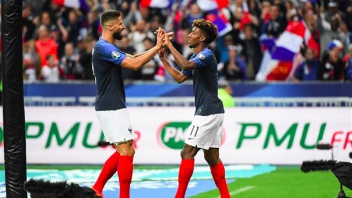 فرنسا تتقدم على ألبانيا بهدفين في تصفيات يورو 2020
