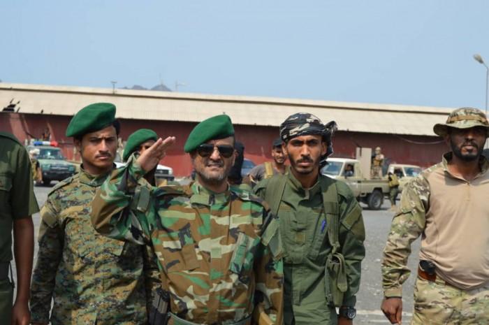 زيارة خاصة من مدير أمن عدن لكتيبة حماية ميناء المعلا (تفاصيل وصور)