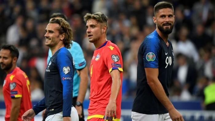 فرنسا تواصل انتصاراتها بثلاثية نظيفة على أندورا بتصفيات أوروبا 2020