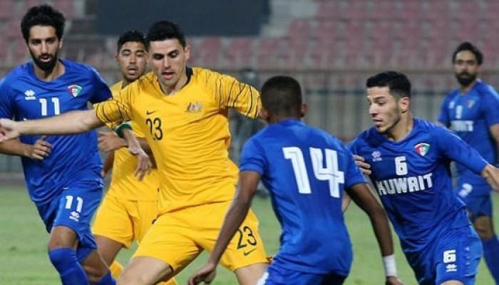 """استراليا تفوز بـ""""ثلاثية نظيفة"""" أمام الكويت بتصفيات المونديال"""