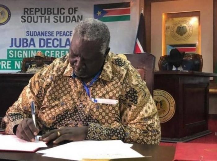 الحكومة السودانية توقع اتفاق إعلان المبادئ مع الحركات المسلحة