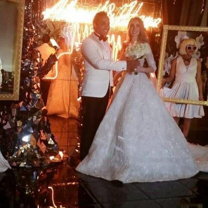شاهد.. الصور الأولى لحفل زفاف أحمد فهمي وهنا الزاهد