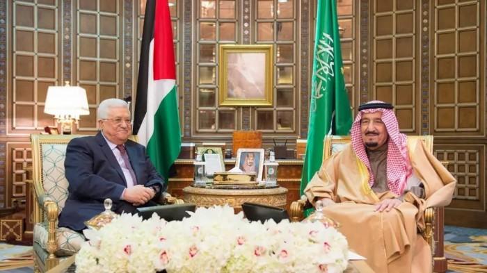 العاهل السعودي للرئيس الفلسطيني: الإعلان الإسرائيلي باطل ولاغ