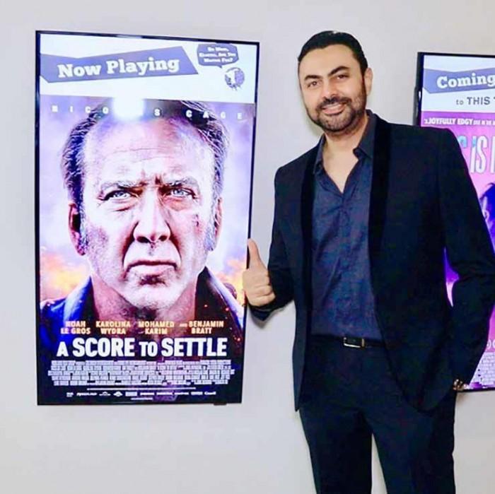 محمد كريم يحتفل بعرض فيلمه A Score to Settle بأمريكا