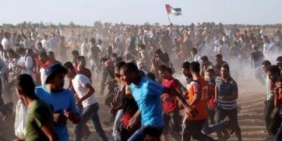 فلسطينيون يخرجون في مسيرات العودة بغزة للتنديد باتفاقية أوسلو