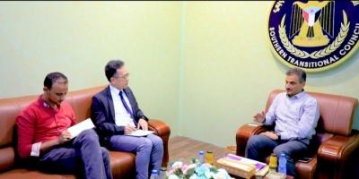 لقاء هام بين الأمين العام للانتقالي ومسئول الشؤون السياسية لمكتب غريفيث