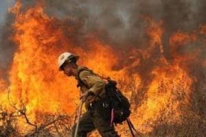 حريق ضخم يُجبر السلطات اليونانية في إجلاء سكان قريتين
