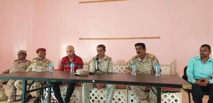 تفاصيل لقاء البحسني بقيادات و ضباط المنطقة العسكرية الثانية (صور)
