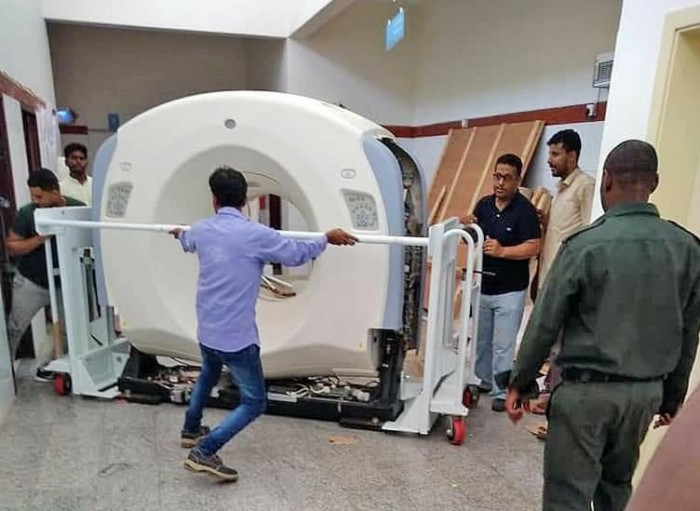 بدعم إماراتي.. تركيب جهاز أشعة مقطعية بمستشفى الشيخ خليفة بسقطرى