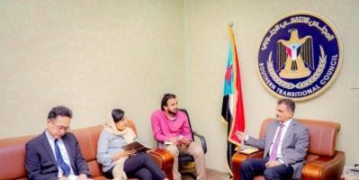 لملس يلتقي مسؤولين أممين لمناقشة الوضع الإنساني في الجنوب