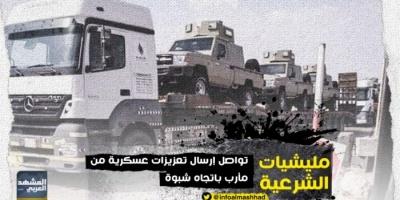 تعزيزات عسكرية لمليشيا الإخوان من مأرب إلى شبوة (صور)