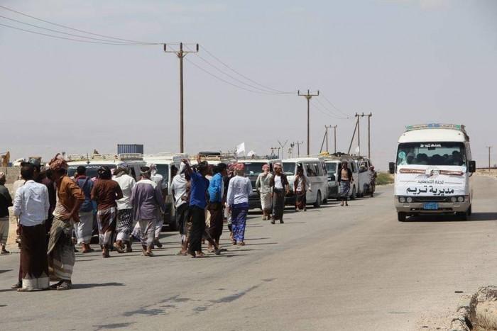 وصول موكب مديريات وادي حضرموت إلى مشارف المكلا  (صور)