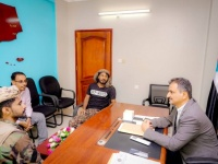 لملس يلتقي قائد الحزام الأمني بلودر للوقوف على آخر المستجدات