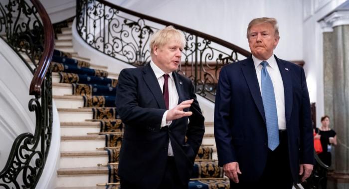 ترامب وجونسون يتفقان على إبرام صفقة تجارية