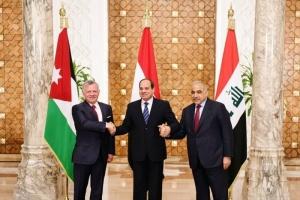 قادة دول مصر والأردن والعراق يتضامنون مع أزمة السعودية والخليج العربي