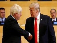 ترامب وجونسون يتفقان على إبرام اتفاق تجاري بين البلدين