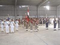 خوفا من ضربات التحالف.. الحوثيون يحتفلون بتخرج دفعة عسكرية داخل هنجر