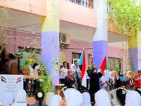 انتقالي المعلا يواصل حملة رفع العلم الجنوبي في مدارس المديرية (صور)