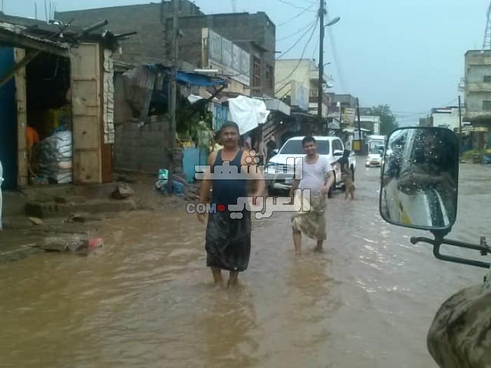بسبب الأمطار..أضرار مادية كبيرة في الحوطة بلحج (صور)