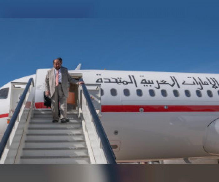 حاكم الشارقة يصل إلى مدريد في زيارة رسمية لافتتاح معرض ليبر للكتاب