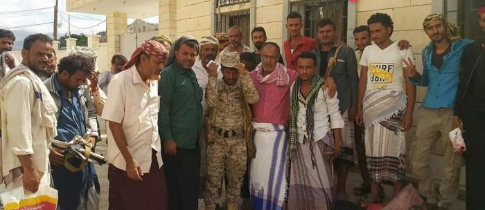 زيارة خاصة لأبناء مودية للمحررين من مليشيات الإخوان