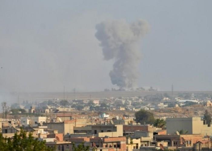 الأكراد السوريون يشعلون حرائق للتعمية على الطائرة التركية المغيرة