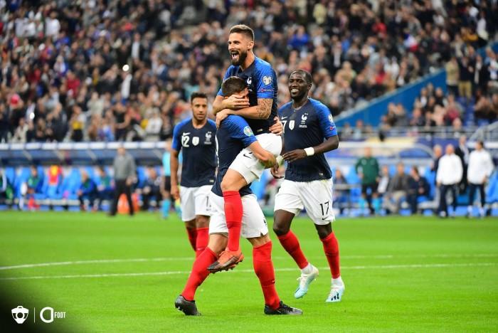 بركلة جزاء فرنسا تفوز على أيسلندا بهدف نظيف