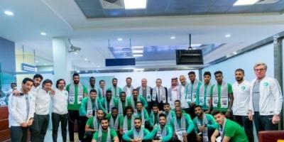 المنتخب السعودي يصل إلى الضفة الغربية لمواجهة فلسطين
