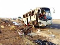 وفاة أكثر من 30 معتمرًا وإصابة 5 آخرين إثر حادث في سير بالسعودية