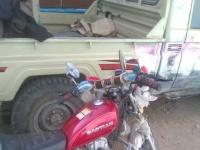 القبض على شخصين أثناء بيعهم دراجة نارية مسروقة بلحج (صورة)