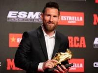 برشلونة يعلق على فوز ميسي بالحذاء الذهبي