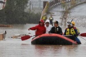 الأرصاد الجوية اليابانية تحذر من وقوع كارثة ثانوية بسبب إعصار هاجيبيس