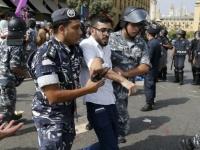 الأمن اللبناني يعتقل متظاهرين وسط بيروت