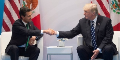 ترامب ونظيره المكسيكي يتفقان على وقف تدفق الأسلحة بطرق غير شرعية