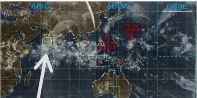 الأرصاد: تطور الاضطراب المداري في بحر العرب خلال الأيام المقبلة