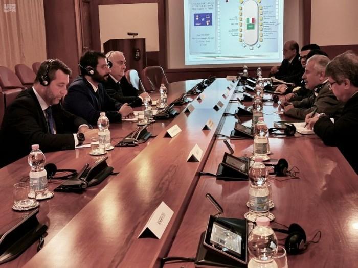 الربيعة يستعرض جهود الإغاثة في اليمن مع وكيل وزارة الدفاع الإيطالي