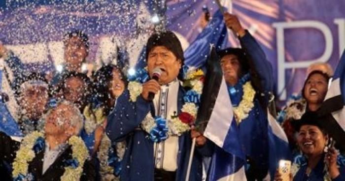 إيفو موراليس يعلن فوزه بالانتخابات الرئاسية البوليفية