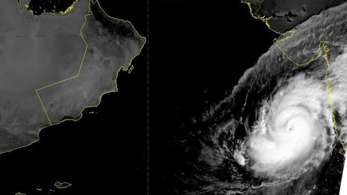 1300 كيلو متر تفصل إعصار كيار عن سلطنة عمان