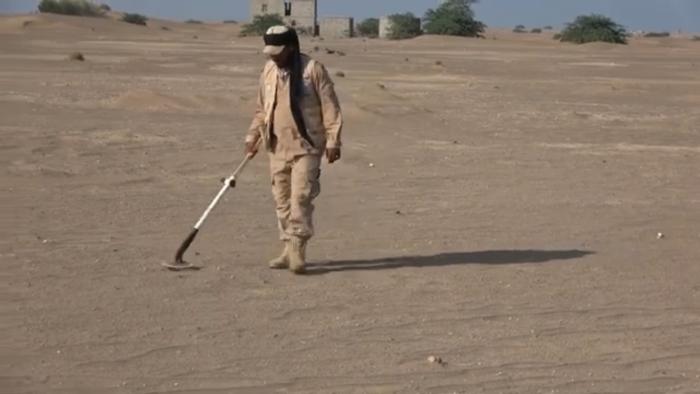 تفكيك حقل ألغام زرعته مليشيا الحوثي بحي منظر في الحديدة
