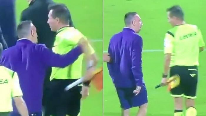 إيقاف ريبيري ثلاث مباريات بعد تعديه على حكم مساعد عقب مباراة فيورنتينا ولاتسيو
