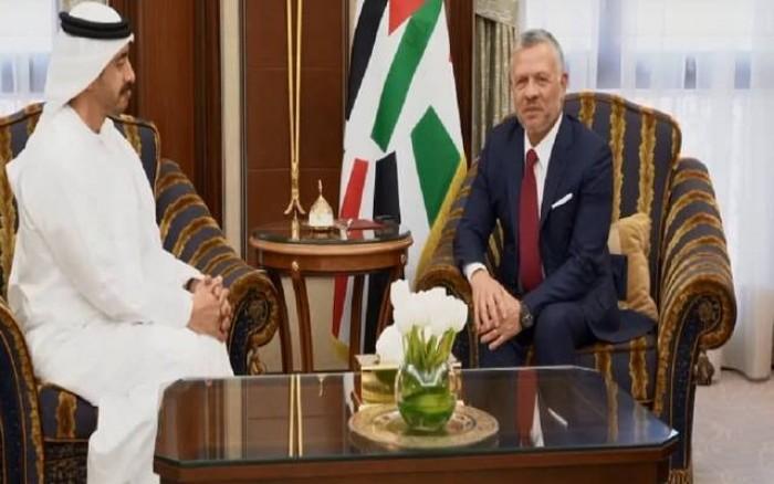 ملك الأردن يبحث مع وزير الخارجية الإماراتي أوضاع المنطقة