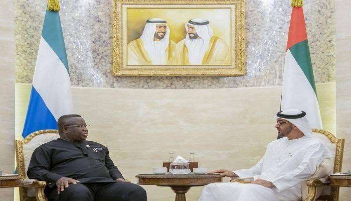 ولي عهد أبوظبي يبحث مع رئيس سيراليون التعاون المشترك بين البلدين