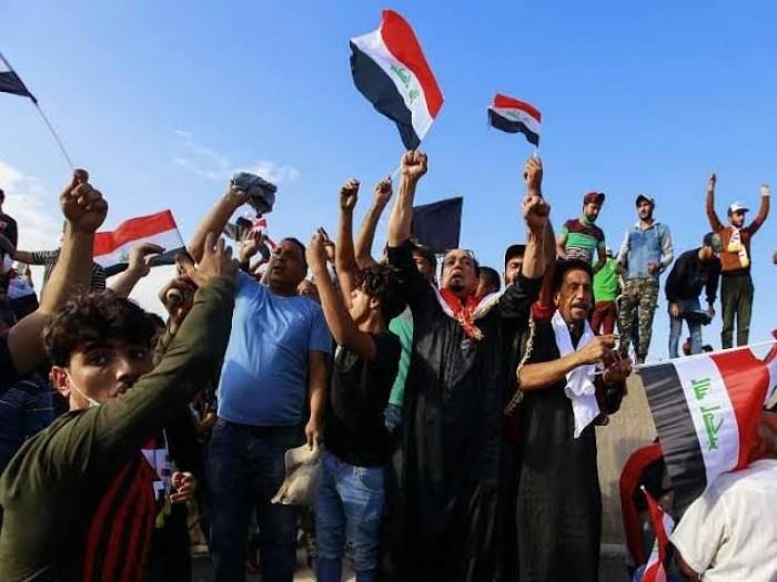 شاهد.. متظاهرو العراق يصدمون إيران