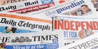أبرز ما ورد بالصحف العالمية اليوم الإثنين